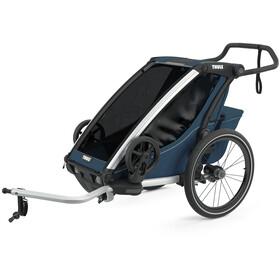 Thule Chariot Cross 1 Bike Trailer, majolica blue